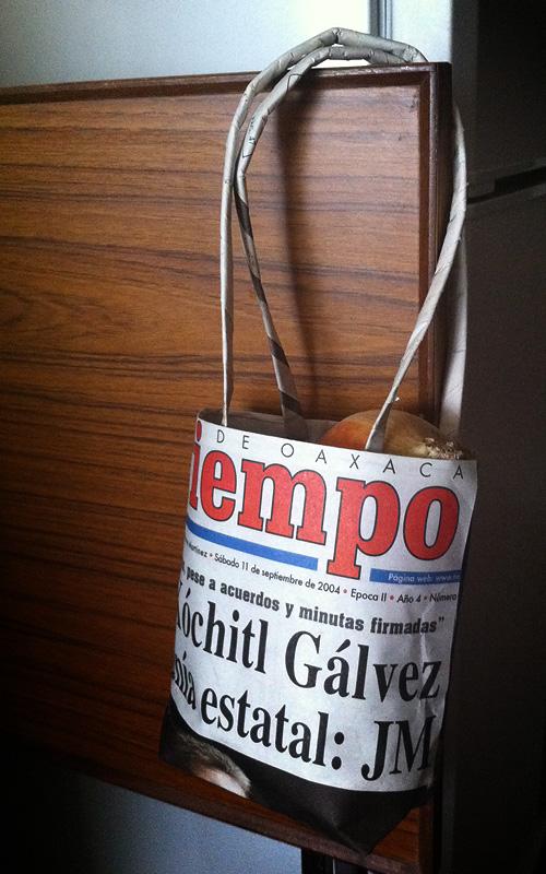 「これはエコかな、新聞バッグ」 Dhdaily